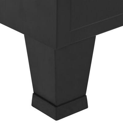 vidaXL Kledingkast industrieel 90x40x140 cm staal zwart