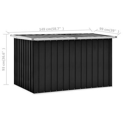 vidaXL Tuinbox 149x99x93 cm antraciet