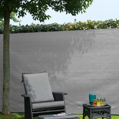 Nature Tuinscherm 1,5x5 m PE grijs