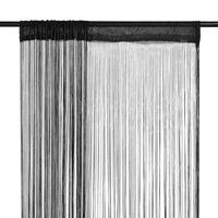 vidaXL Draadgordijnen 2 st 140x250 cm zwart