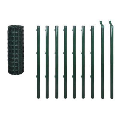vidaXL Euro hek 10x1,2 m staal groen