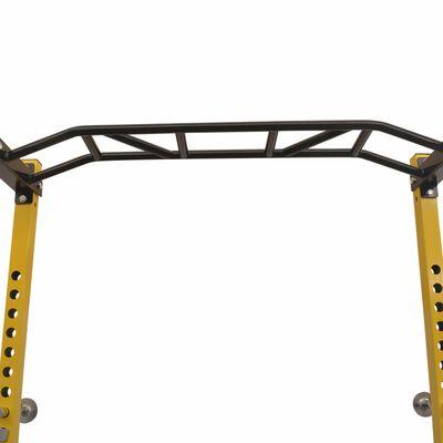 vidaXL Fitnessapparaat 140x145x214 cm geel en zwart