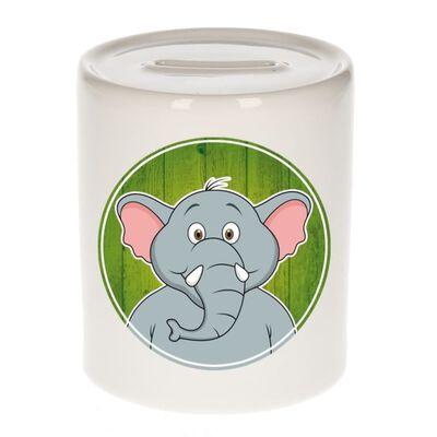 Vrolijke olifant dieren spaarpot 9 cm - olifanten - spaarpotten voor