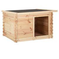 vidaXL Hondenhok 80x80x100 cm massief grenenhout