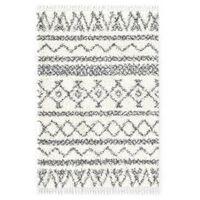 vidaXL Tapijt Berber shaggy hoogpolig 80x150 cm PP beige en grijs