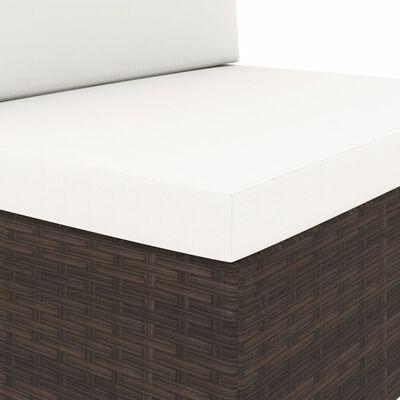 vidaXL 3-delige Loungeset poly rattan bruin