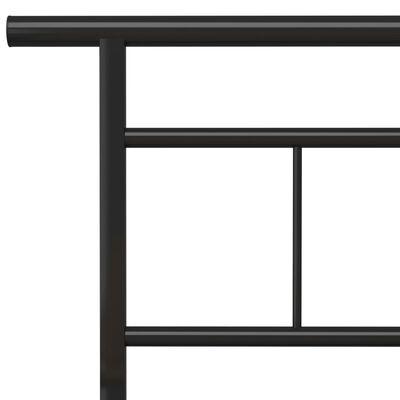 vidaXL Bedframe metaal zwart 200x200 cm