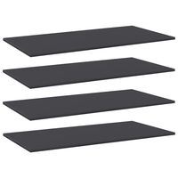 vidaXL Wandschappen 4 st 100x50x1,5 cm spaanplaat grijs