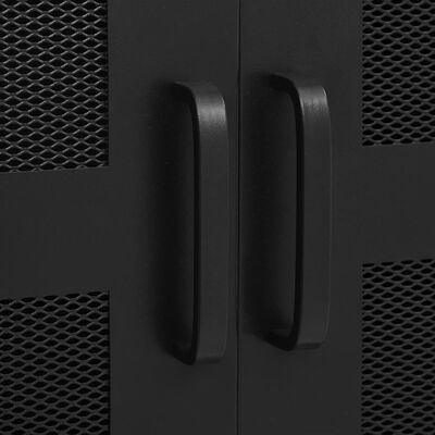 vidaXL Kantoorkast met gaasdeuren industrieel 75x40x120 cm staal zwart