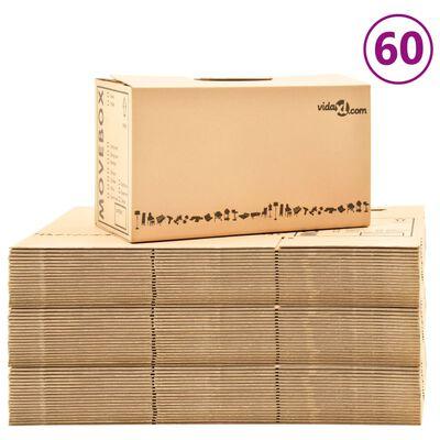 vidaXL Verhuisdozen 60 st XXL 60x33x34 cm karton