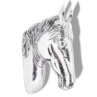 vidaXL Paardenhoofd muurdecoratie aluminium zilver
