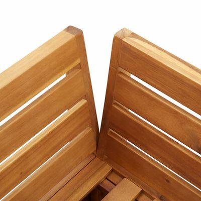 vidaXL Hoekbank 1 st met kussens sectioneel massief acaciahout