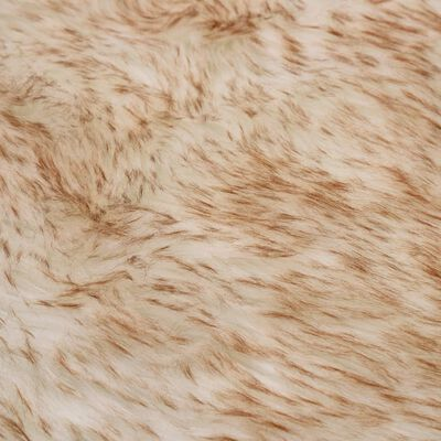 vidaXL Vloerkleed 60x90 cm kunstschapenvacht gemêleerd bruin