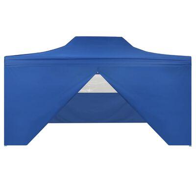 vidaXL Vouwtent pop-up met 4 zijwanden 3x4,5 m blauw