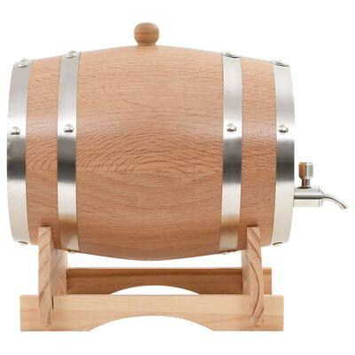 vidaXL Wijnvat met kraantje 6 L massief eikenhout