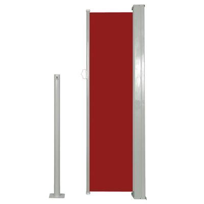 vidaXL Windscherm uittrekbaar 120x300 cm rood , Red