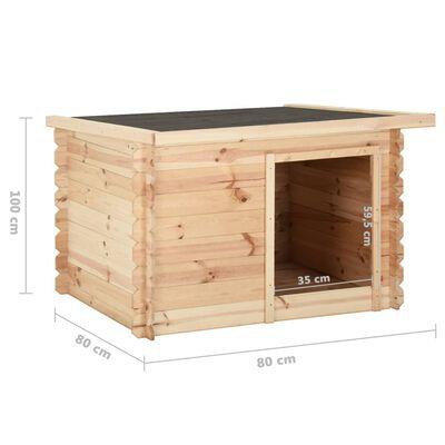 vidaXL Hondenhok 80x80x100 cm 14 mm massief grenenhout