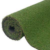 vidaXL Kunstgras 1,5x5 m/20 mm groen