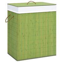 vidaXL Wasmand 83 L bamboe groen