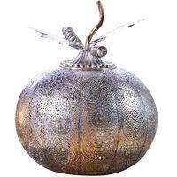 Luxform Tuinlamp op batterijen Pumpkin antiekzilverkleurig