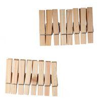 Heless houten wasknijperset voor poppenkleren 16 stuks 6 cm