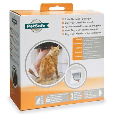 PetSafe Handmatig kattenluik met 4 standen en tunnel Classic 917 wit 5030