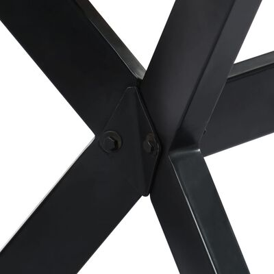 vidaXL Eettafel 120x60x75 cm massief ruw mangohout