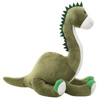 vidaXL Knuffel dinosaurus brontosaurus pluche groen