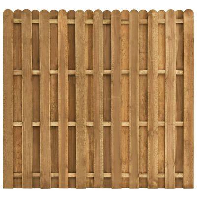 vidaXL Schuttingpaneel verspringend 180x170 cm grenenhout