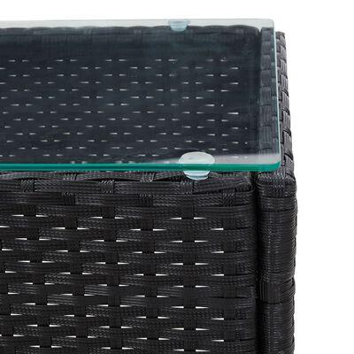 vidaXL Salontafel 60x40x36 cm poly rattan zwart