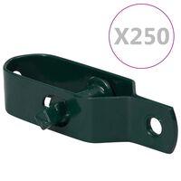 vidaXL Draadspanners 250 st 100 mm staal groen