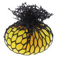 Jonotoys stressbal 6 cm rubber geel