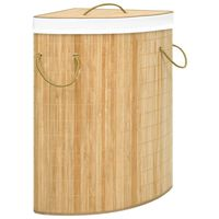 vidaXL Hoekwasmand 60 L bamboe