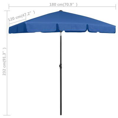 vidaXL Strandparasol 180x120 cm azuurblauw