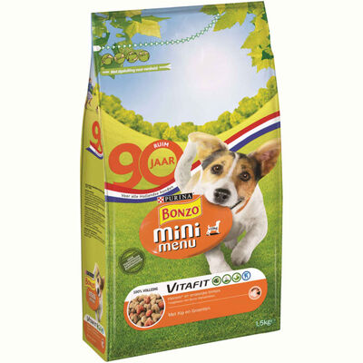 Hondenvoer Bonzo Mini Menu Met Kip En Groenten 3x1.5kg Purina,