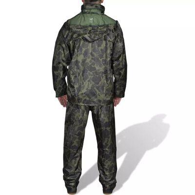 Regenpak 2-delig met capuchon (heren / camouflage / maat XL)