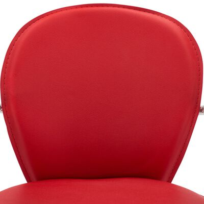 vidaXL Barkrukken met armleuning 2 st kunstleer rood