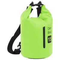 vidaXL Drybag met rits 15 L PVC groen