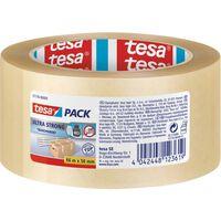 3x Tesa verpakkingstape transparant extra sterk 66 mtr x 50 mm -