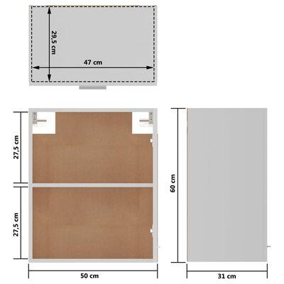 vidaXL Hangkasten 2 st 50x31x60 cm spaanplaat wit