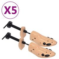 vidaXL Schoenspanners 5 paar maat 36-40 massief grenenhout