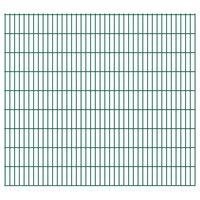 vidaXL Dubbelstaafmatten 2,008x1,83 m 46 m (totale lengte) groen