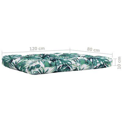 vidaXL Tuinkussen 120x80x10 cm stof groen