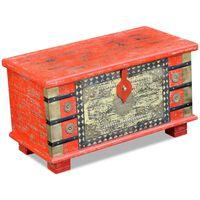 vidaXL Opbergkist 80x40x45 cm mangohout rood