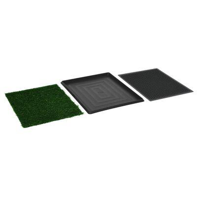 vidaXL Huisdierentoilet met bak en kunstgras 64x51x3 cm groen,