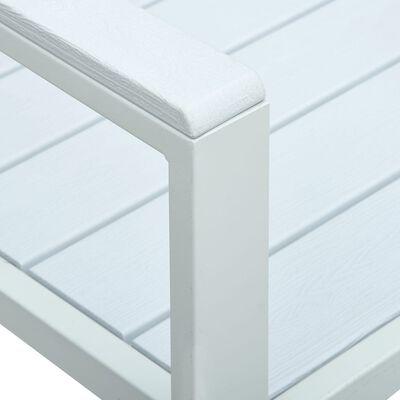 vidaXL Tuinbank hout-look 120 cm HDPE wit