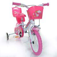 "Dino Bikes Kinderfiets Unicorn 12"" roze"