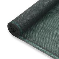 vidaXL Tennisscherm 1,6x50 m HDPE groen