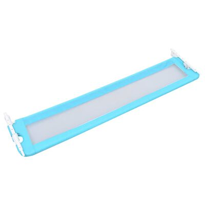 vidaXL Bedhekje peuter 180x42 cm polyester blauw