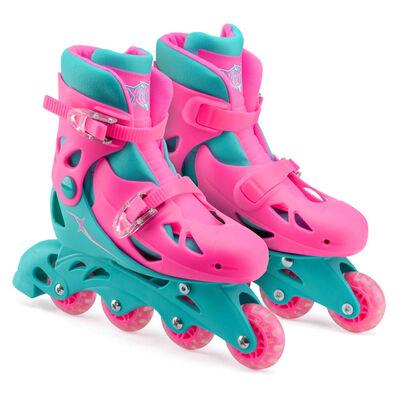 Xootz inlineskates meisjes roze/turquoise maat 28-31